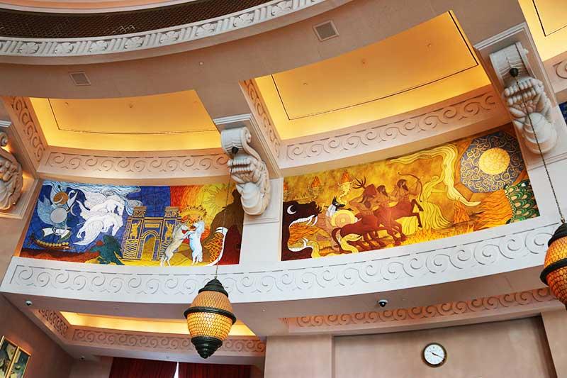 アトランティスザパームのロビー壁に描かれている絵