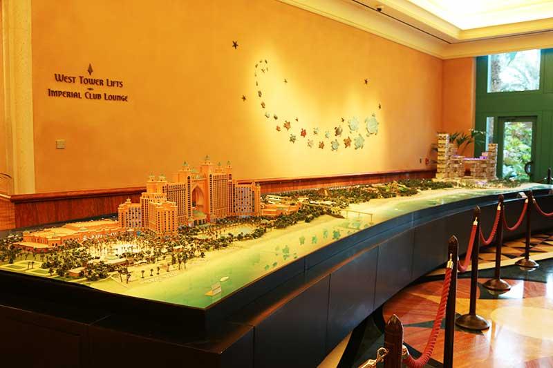 アトランティスザパームの模型
