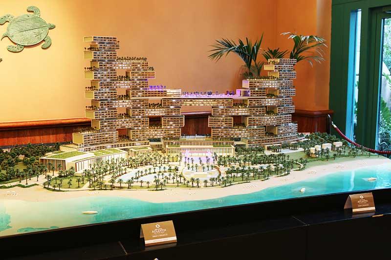 アトランティスザパーム建設中のホテルの模型