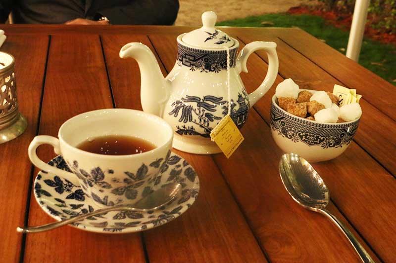 Bread Street Kitchen and Barの食後の紅茶