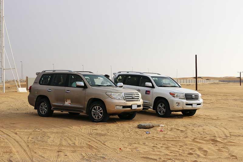 デザートサファリの砂漠ドライブで乗る4WD