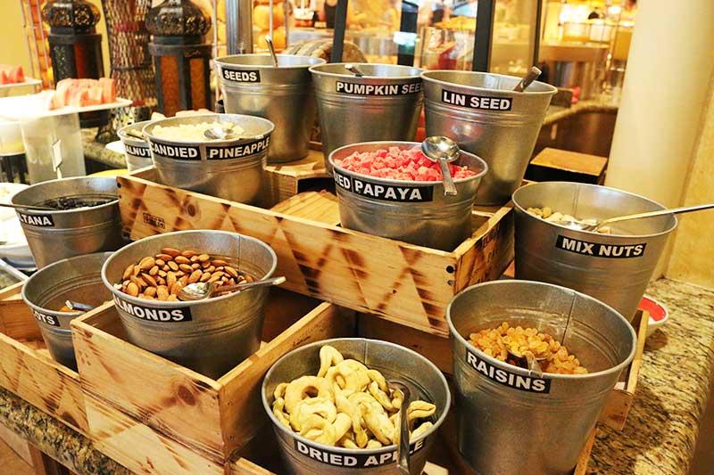 Kaleidoscope Restaurantのナッツやドライフルーツ