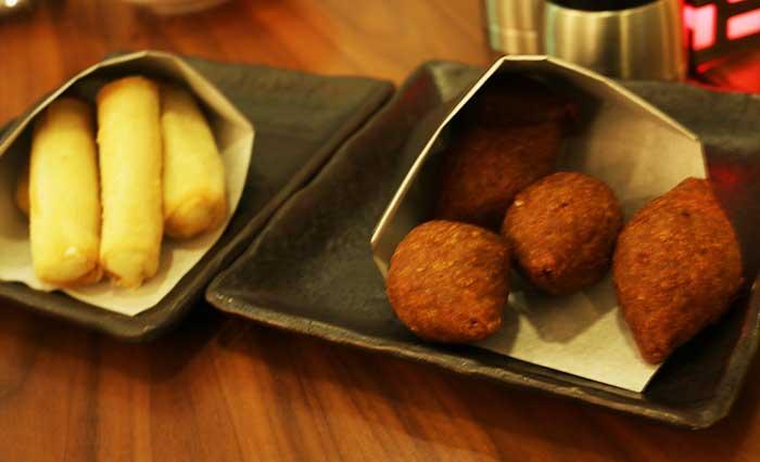 ドバイのレストラン、アヤンナの前菜