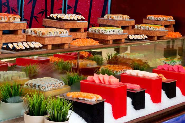 サフランレストランの寿司