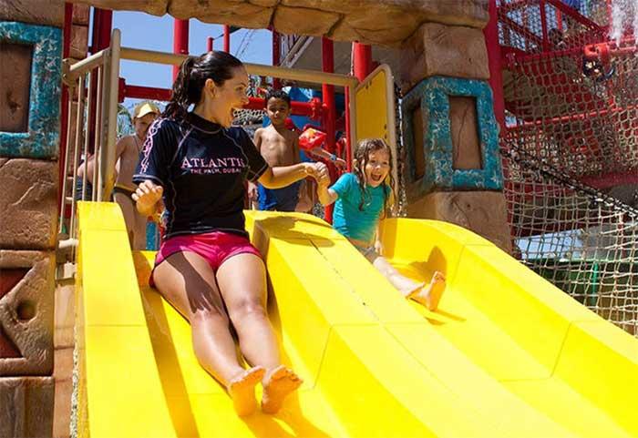 アクアベンチャー・ウォーターパークの子ども用スライド