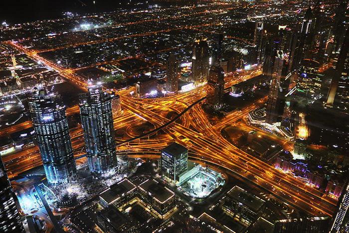 ブルジュ・ハリファAT THE TOP SKYからの夜景