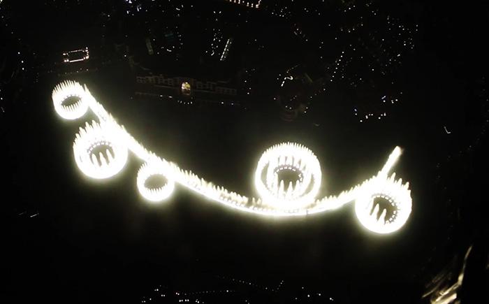 ブルジュ・ハリファから見るドバイファウンテン
