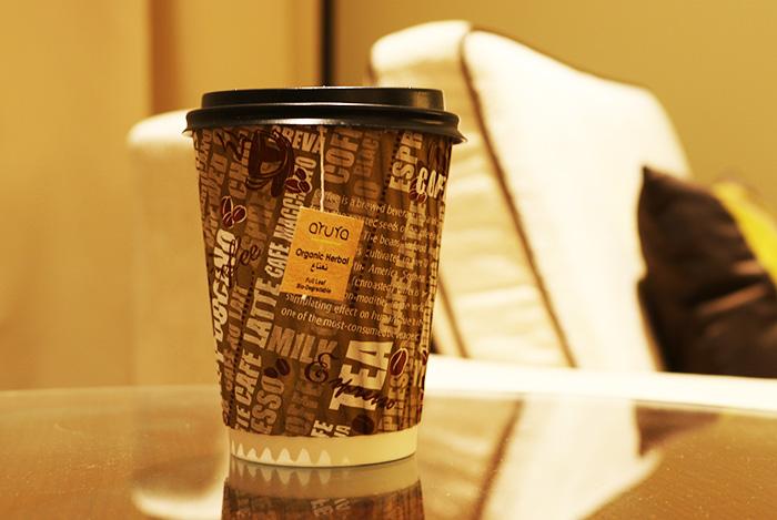 JWマリオット・マーキス・ホテルルームサービスのコーヒーカップ