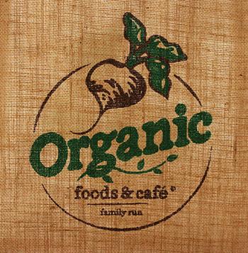 オーガニックフード&カフェのロゴ