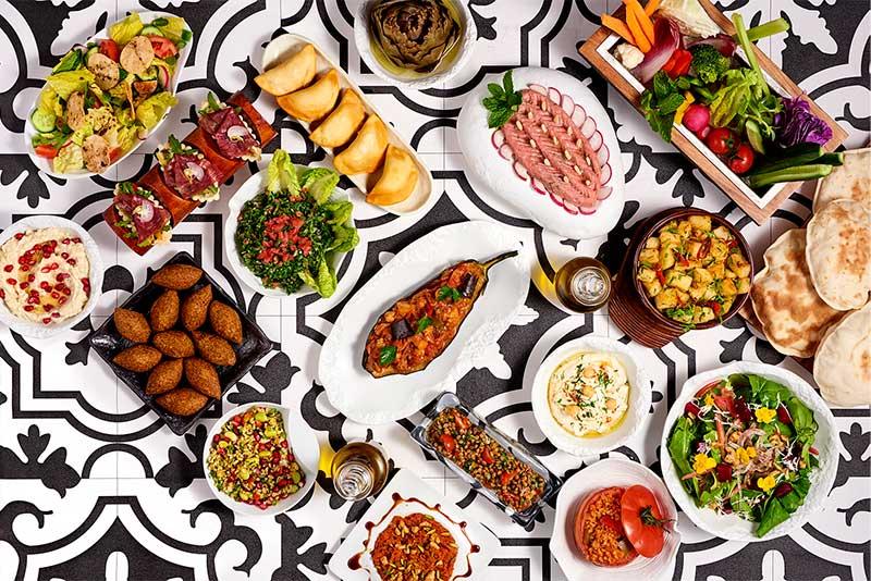 アトランティスザパームのレバノン料理レストランAyamna