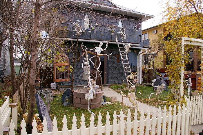 ハロウィンの家のデコレーション