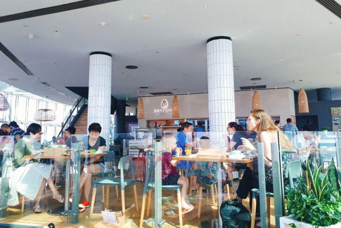 スカイポイント展望台のレストラン