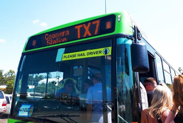 ルートTX7のバス