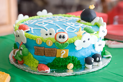 アメリカの原色ケーキ