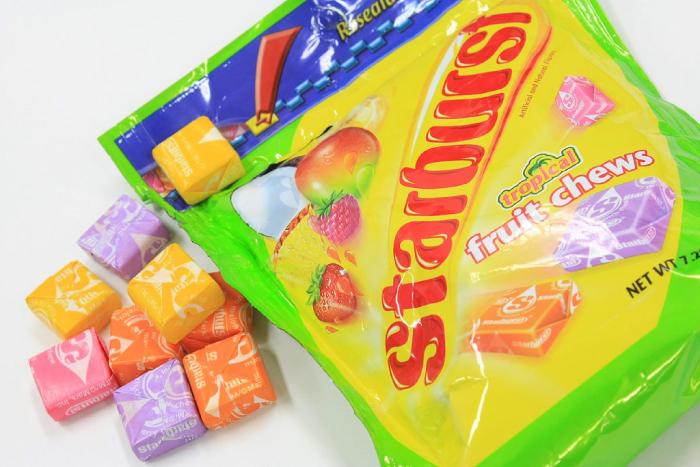 アメリカのお菓子スターバースト
