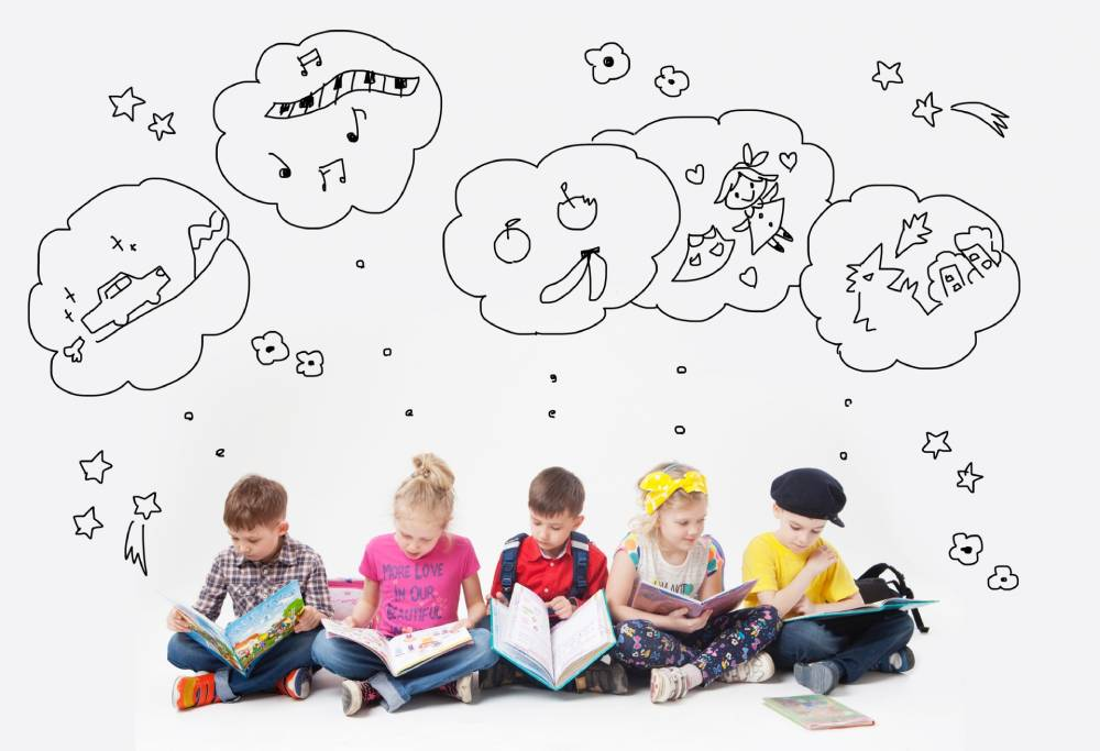 想像力を働かせる子どもたち