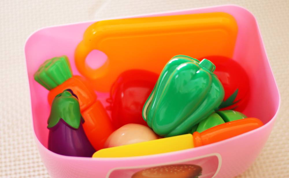 キッチンに収納した野菜